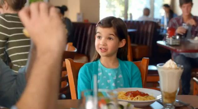 Kaitlyn in National Denny's Commercial