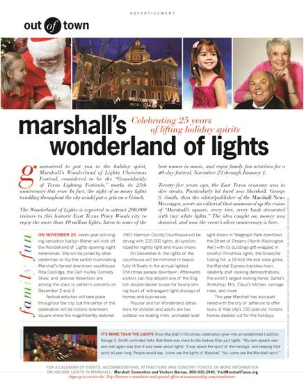 Kaitlyn in the Texas Monthly Magazine for Her Upcoming Wonderland of Lights Concert