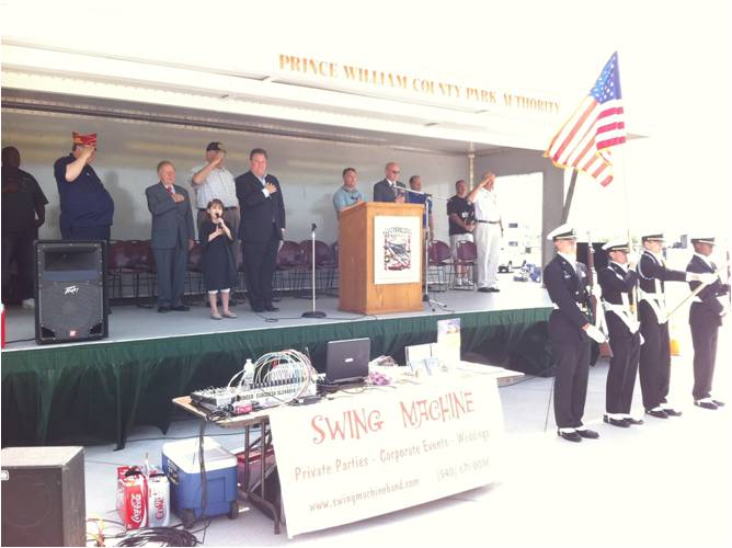 Kaitlyn Singing at a Wounded Warrior Event in Manassas, VA