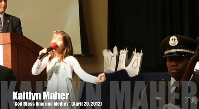 Kaitlyn Singing at the 2012 Valor Awards